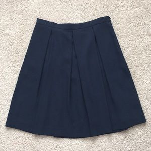 NWT Brooks brothers navy pleated skirt sz 8